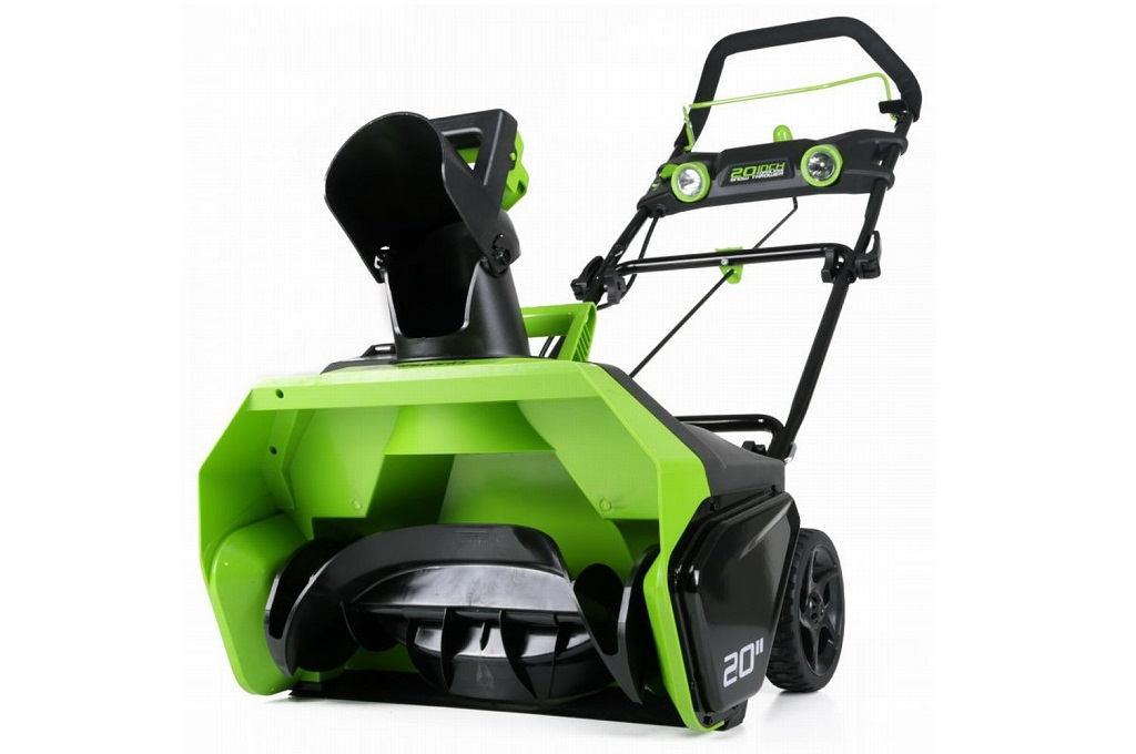 Compare Electric Snow Blowers : Greenworks g max v cordless snow blower picture