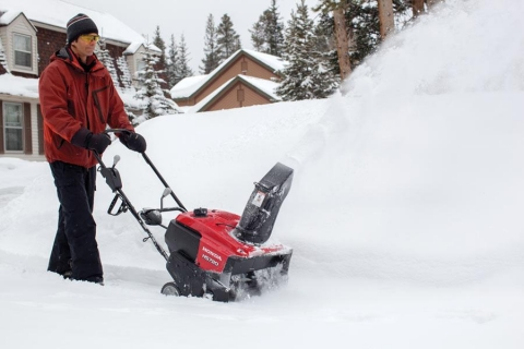 Honda 20 Wide x 12 High Clearance Single Stage Snow Blower Thrower - HS720AA Picture